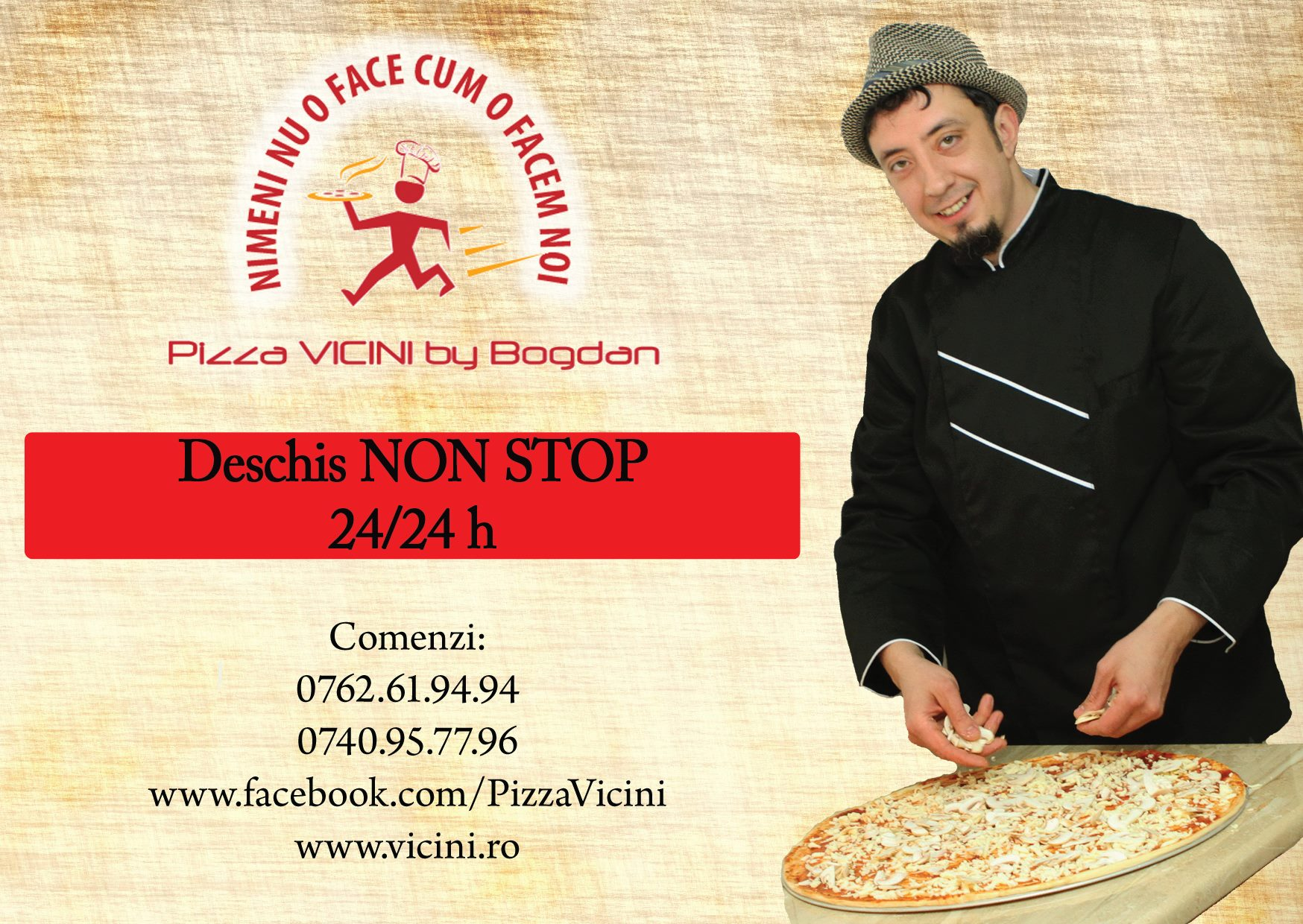 S-a deschis Pizzeria Vicini by Bogdan Roman Masterchef!