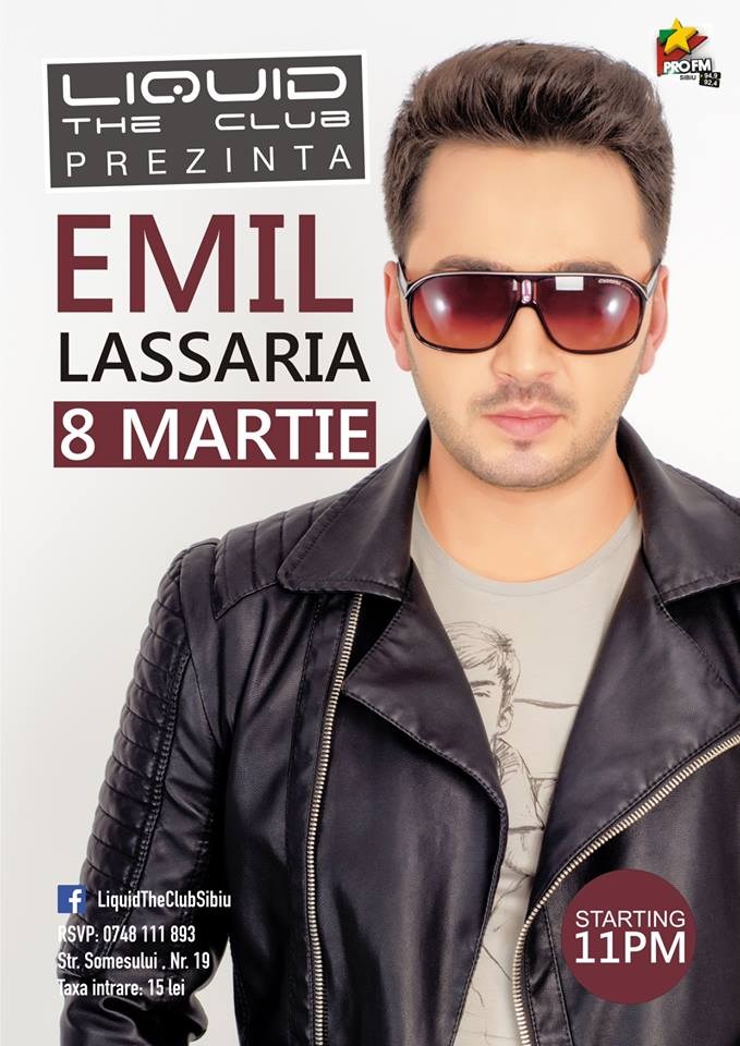 EMIL LASSARIA at Liquid The Club Sibiu