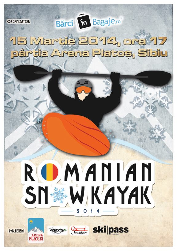 Romanian Snow Kayak : prima competitie de snow kayak din Romania