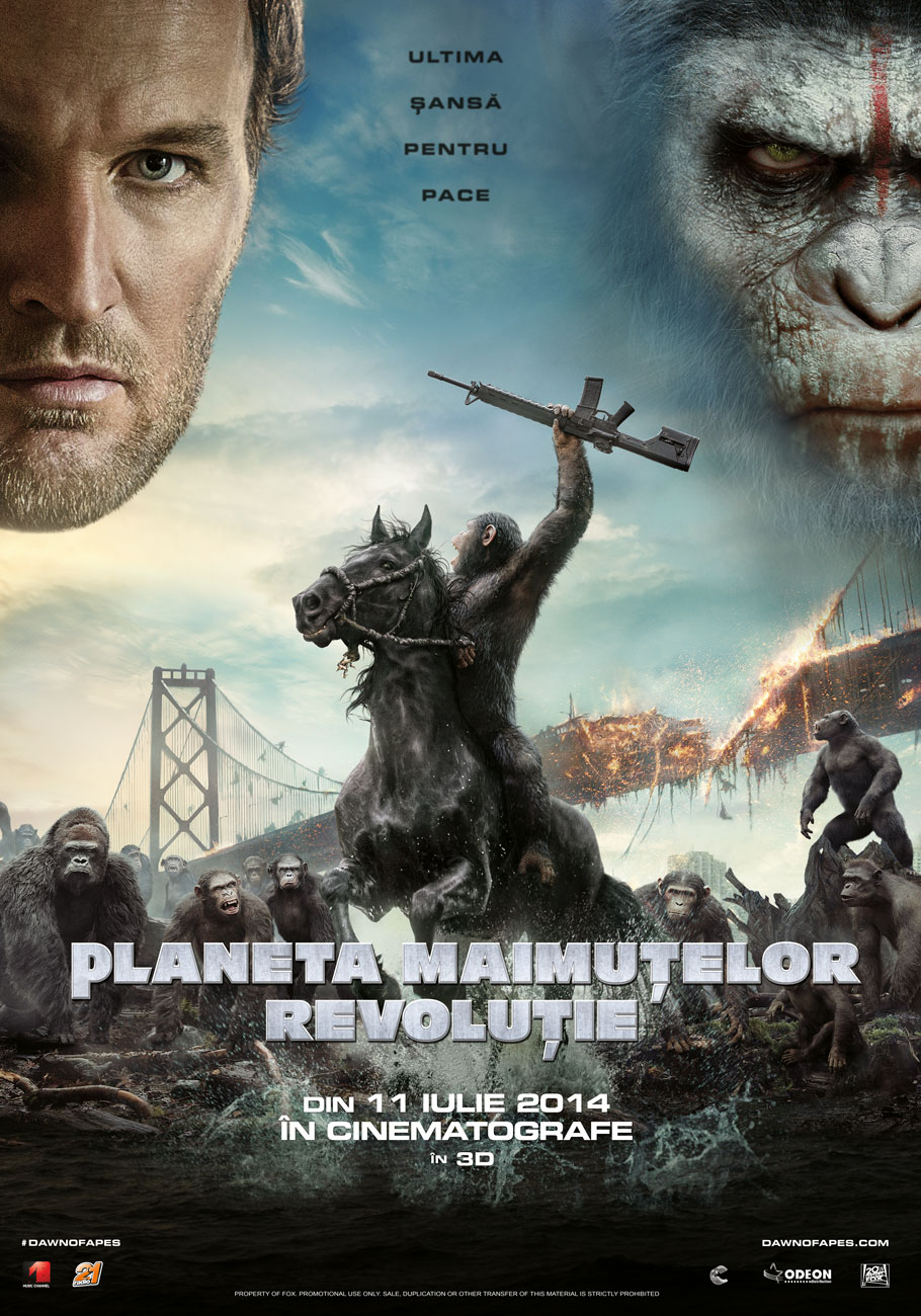 Planeta Maimutelor: Revolutie 3D / Dawn of the Planet of the Apes 3D (Premiera)