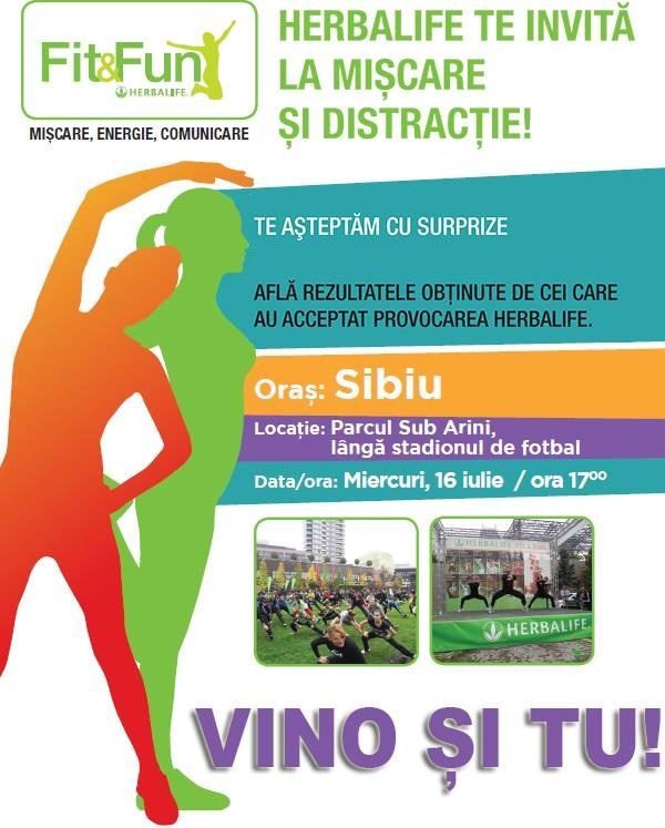 FIT AND FUN HERBALIFE - Miscare, energie si comunicare