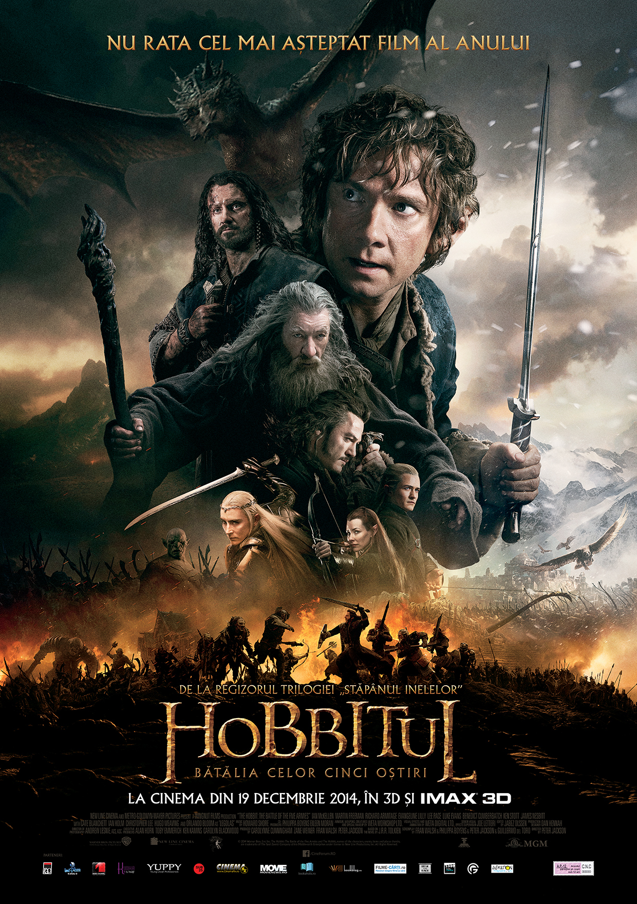 Hobbitul: Batalia celor cinci ostiri – 3D / The Hobbit: Battle of the Five Armies – 3D (Premiera)