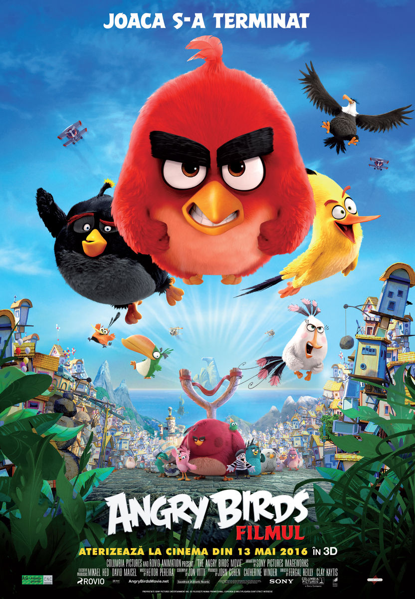 Angry Birds: Filmul – 3D Dublat / The Angry Birds Movie – 3D (Premiera)
