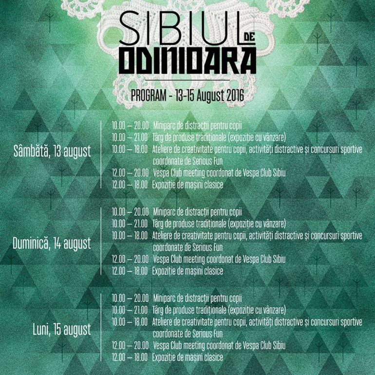 SIBIUL DE ODINIOARA - program 1
