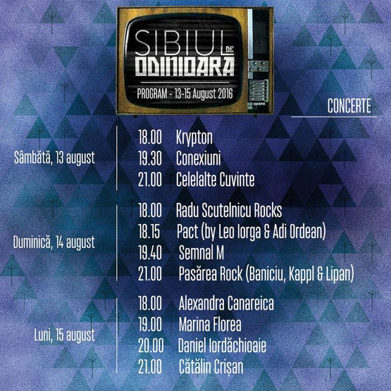 SIBIUL DE ODINIOARA - program 3