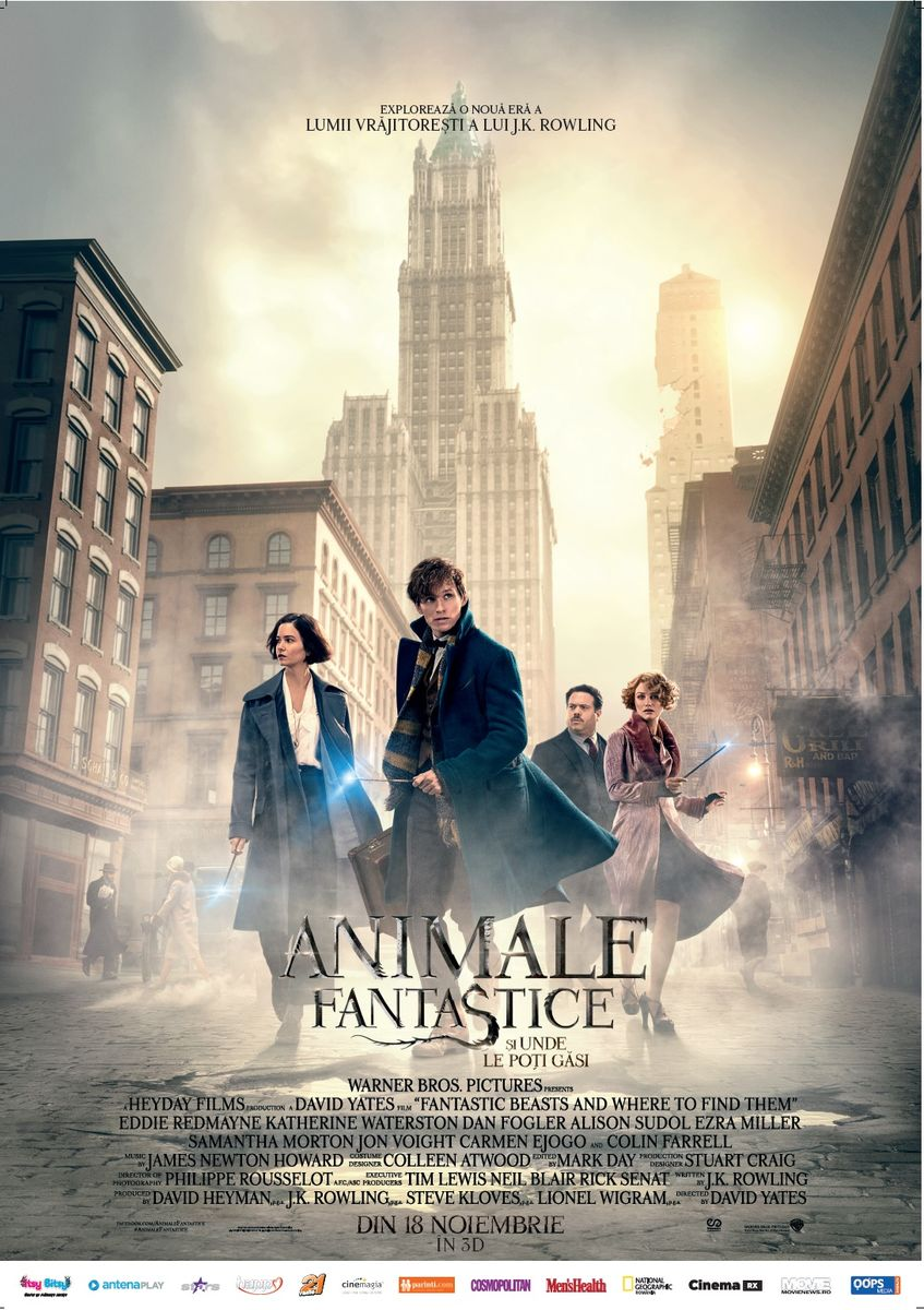 Animale Fantastice si unde le poti gasi – 3D Subtitrat / Fantastic Beasts and Where to Find Them – 3D (Premiera)