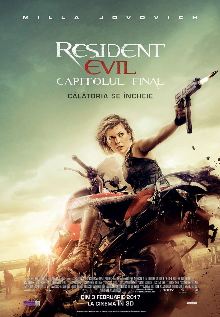 Resident Evil: The Final Chapter – 3D / Resident Evil: Capitolul Final – 3D (Premiera)