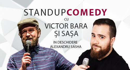 stand up comedy cu Victor si Sasa