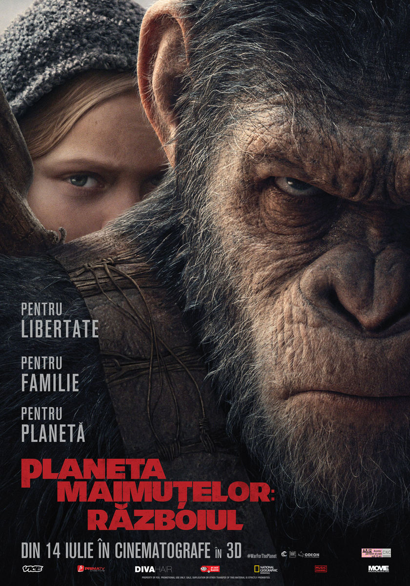 Planeta Maimuţelor: Război – 3D / War for the Planet of the Apes – 3D (Premieră)