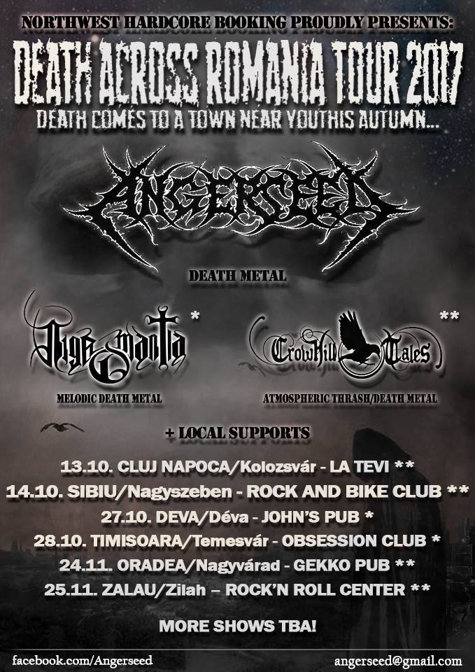 Concert Angerseed + Crowhill Tales - Sibiu, Rock N' Bike Club