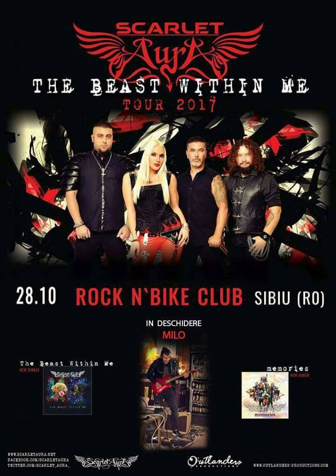 Scarlet Aura in Sibiu - The Beast Within Me Tour 2017