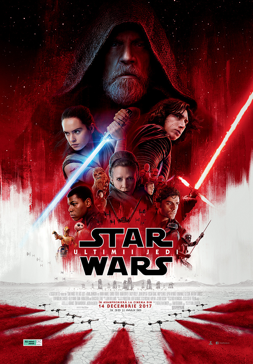 Star Wars: Ultimii Jedi – 3D / Star Wars: The Last Jedi (premieră)