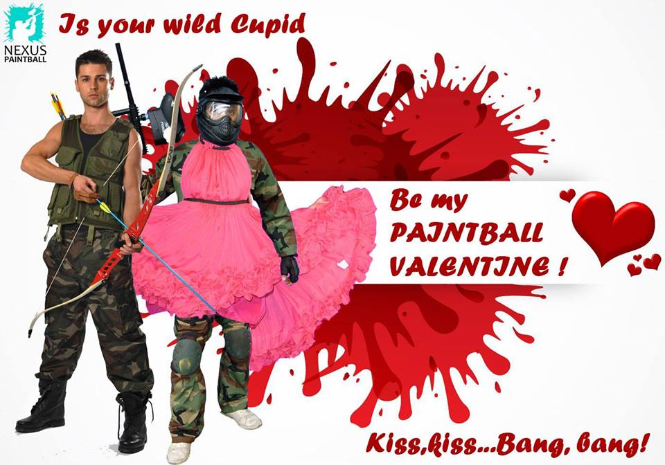 Valentine's Day Paintball