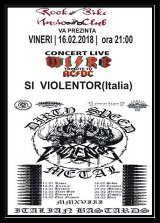 Concert WIRE tribut to AC/DC si Violentor Italia