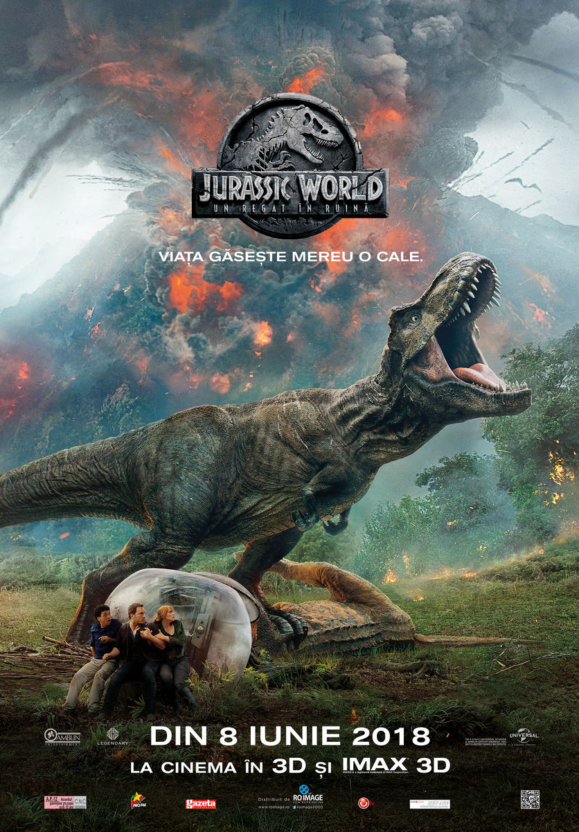 Jurassic World: Un Regat în ruină – 3D / Jurassic World: Fallen Kingdom (Premieră)