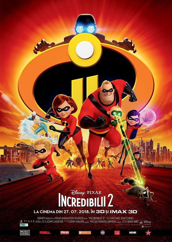 Incredibles 2  (Incredibilii 2) -  3D Dublat RO