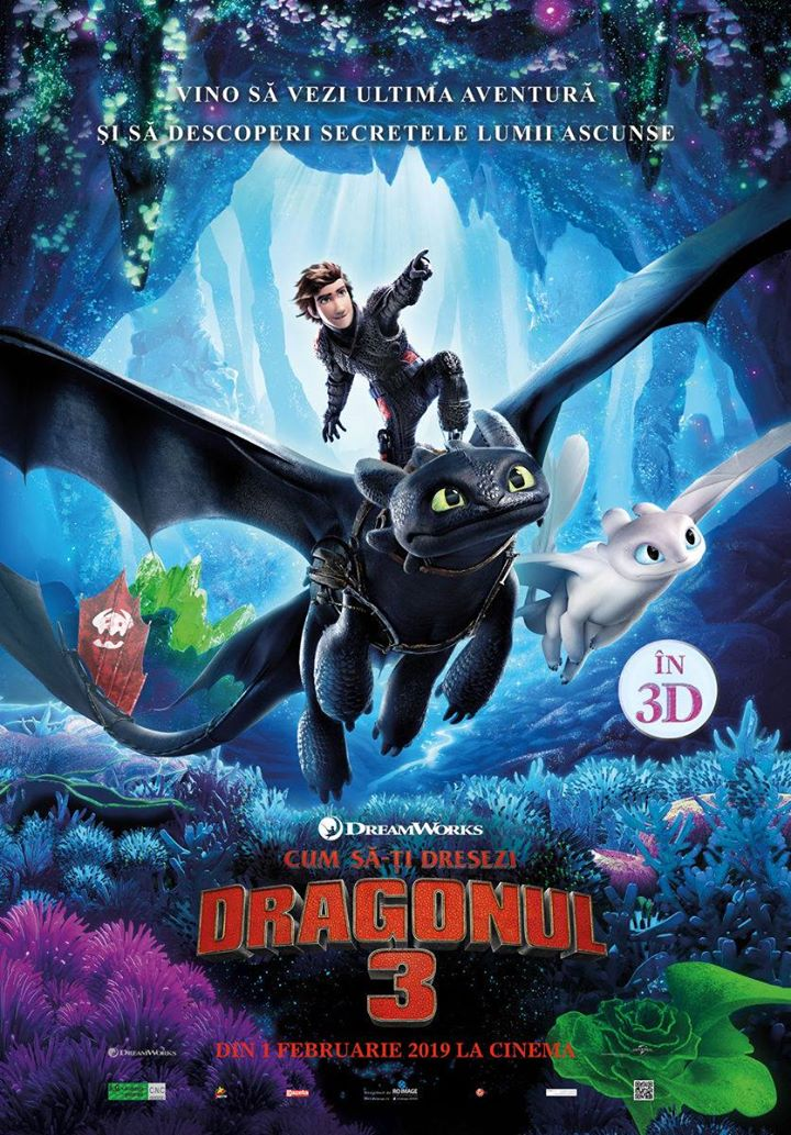 How to Train Your Dragon:The Hidden World( Cum să-ți dresezi dragonul 3) - 3D Dublat RO
