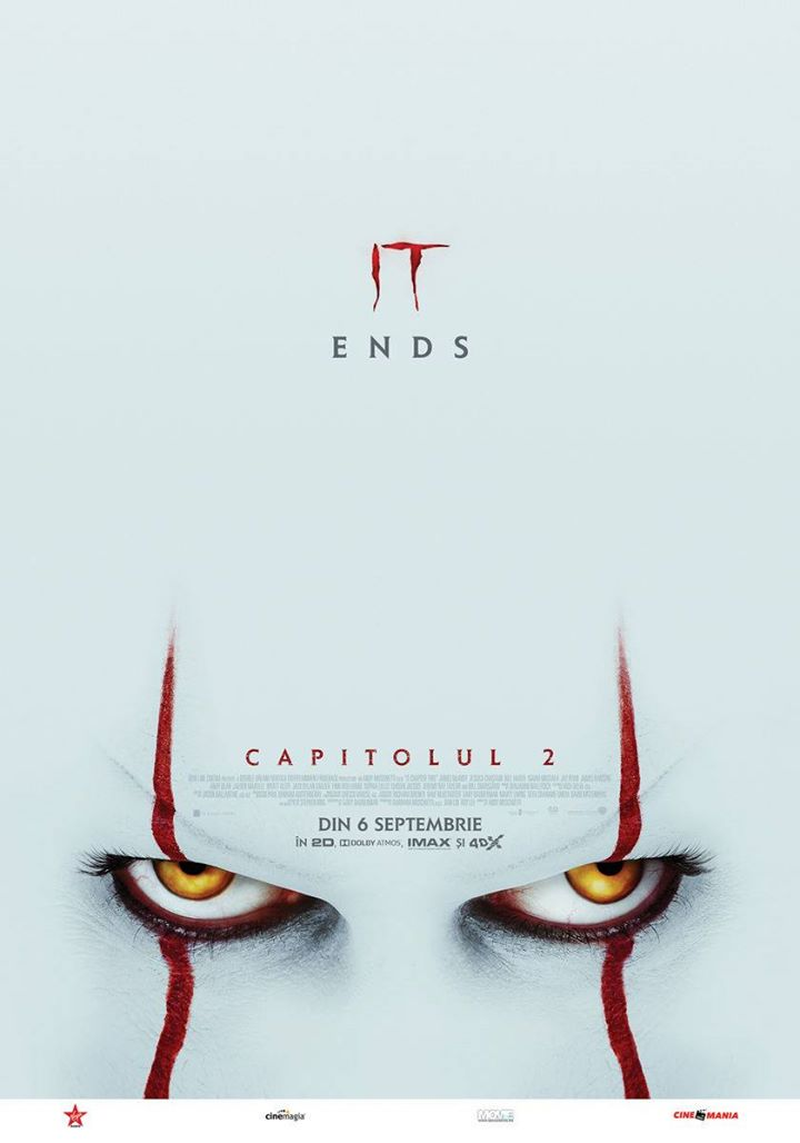 It: Chapter 2 / It: Capitolul 2; 2D; N-15 AVANPREMIERĂ 🎬🍿📽