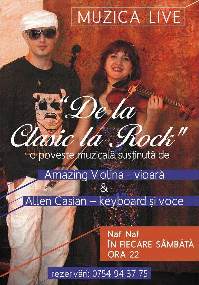 """De la Clasic la Rock"" cu Amazing Violina si Allen Casian"
