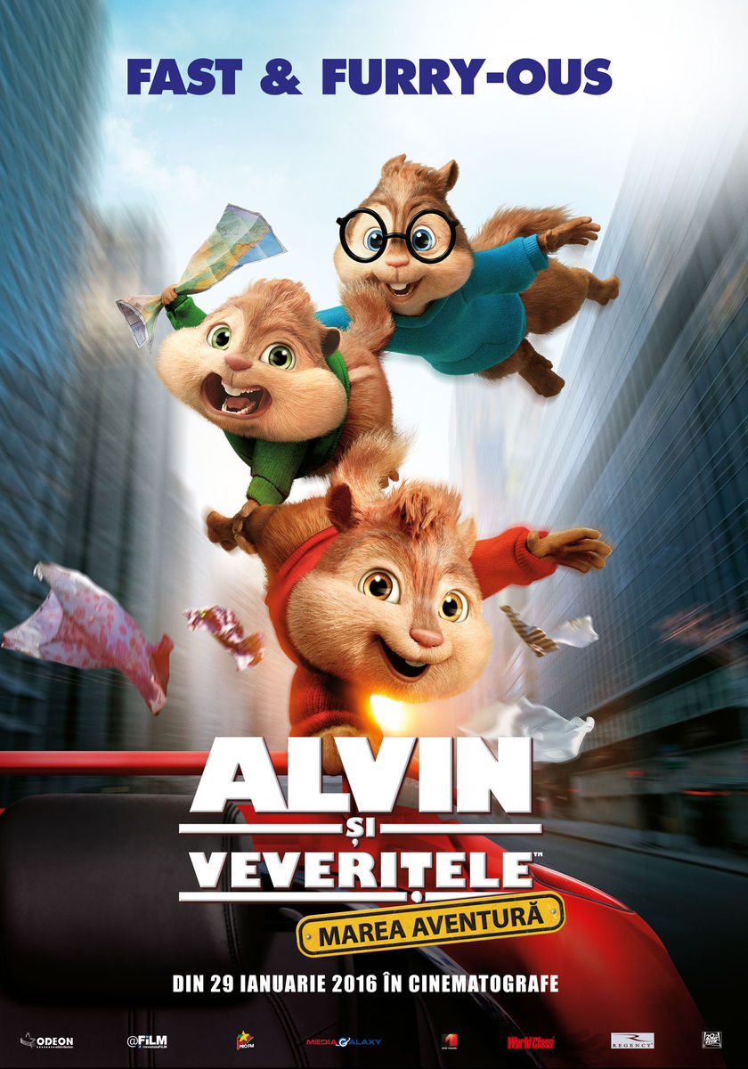 Alvin si Veveritele: Marea aventura (2D Subtitrat) / Alvin and the Chipmunks: The Road Chip (Premiera)