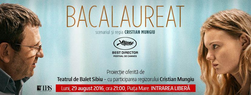 """""""Bacalaureat"""" - proiecție eveniment, în prezența regizorului Cristian Mungiu"""