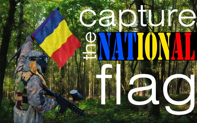 1 decembrie paintball- Capture the National flag